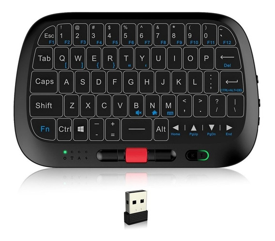 Rii I5 De 2,4 Ghz Sem Fio Completo Touchpad Teclado Mouse Co