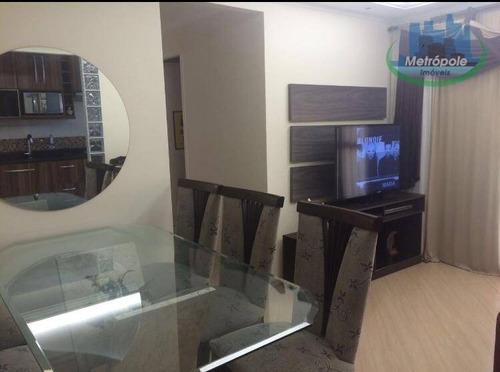 Apartamento Com 3 Dormitórios À Venda, 67 M² Por R$ 395.000 - Vila Rosália - Guarulhos/sp - Ap1103