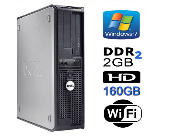 Cpu Dell Optiplex Core 2 Duo E6550 /2gb Ram + 160 Hd + Wi-fi