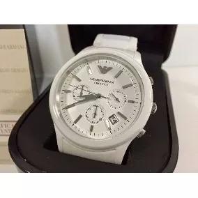 Relógio Emporio Armani Ar1453 Cerâmica Branca Envio Imediato