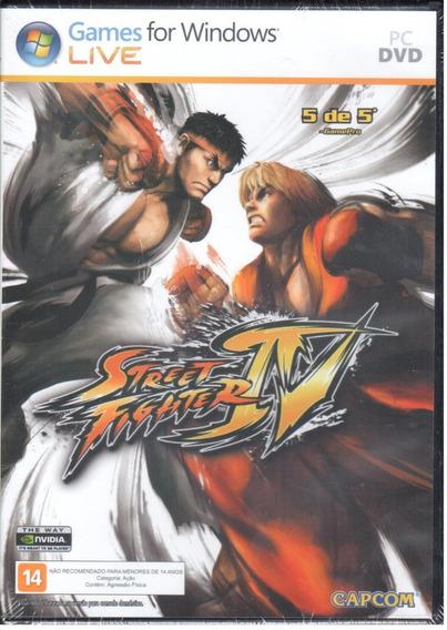 Street Fighter Iv Jogo Pc Original Mídia Física Lacrado