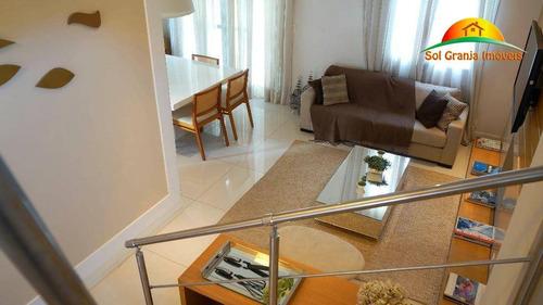 Imagem 1 de 30 de Casa Com 3 Dormitórios À Venda, 143 M² Por R$ 740.000,00 - Granja Viana - Cotia/sp - Ca0014