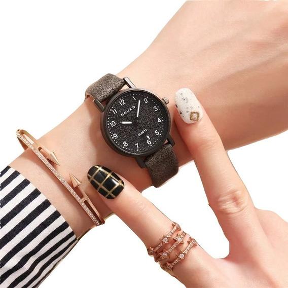 Reloj Vintage Mujer Retro Cristal Piel Sintética Moda Dama