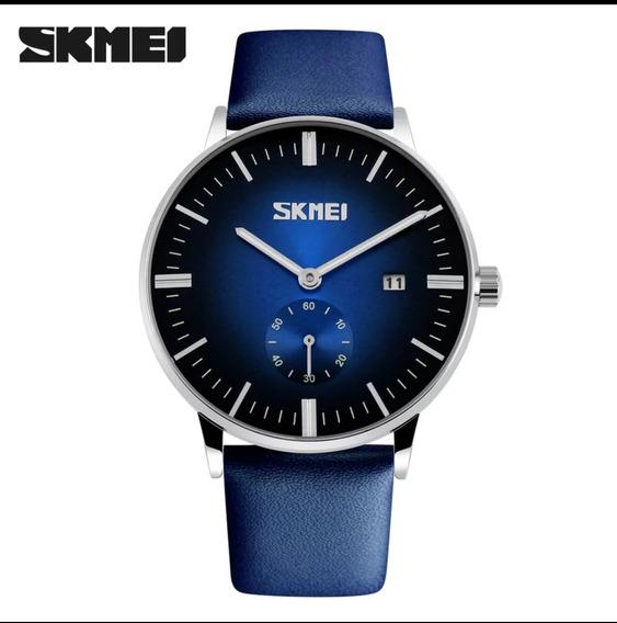 Skmei 9083 Azul Black,aço Inox 3atm