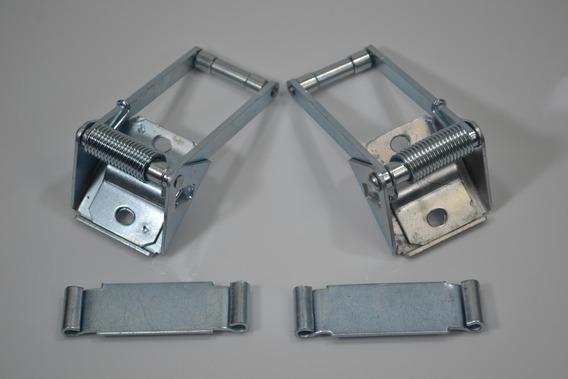 Kit Limitador Porta Fiorino Traseiro Dir Esq Furgão + Chapa