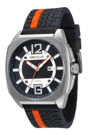 Relógio Masculino Analógico Seculus 23438g0svnu2 Preto