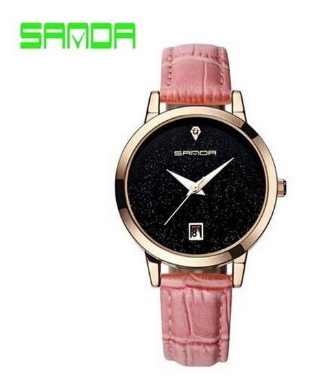 Relógio Feminino Céu Estrelado Sanda Original