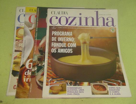 Lote De 1 Revistas Claudia Cozinha, 1 Jornal Da Cozinha
