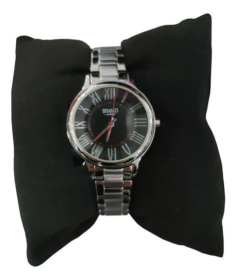 Reloj Branzi Plata-negro Caballero Números Romanos