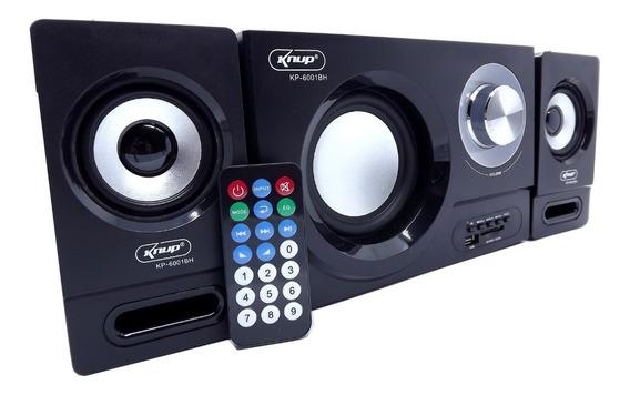 Caixa De Som Amplificada 2.1 Subwoofer Bluetooth 27w Usb Fm