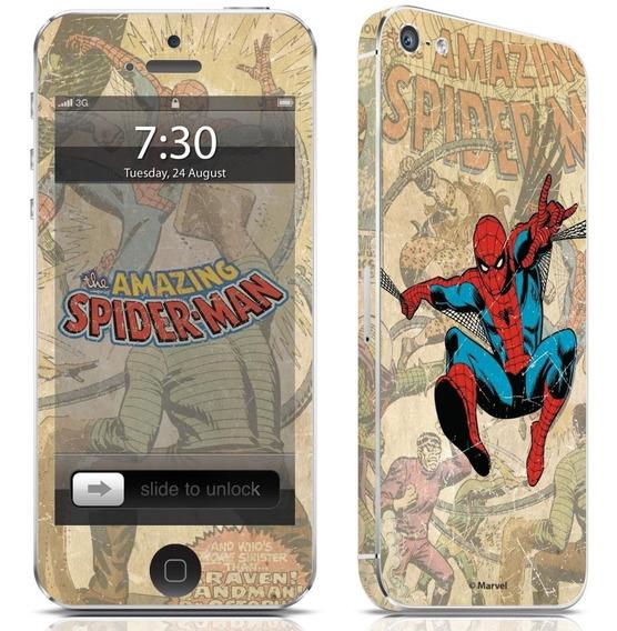 Adesivo Para Celular Homem Aranha Vintage Marvel iPhone 5