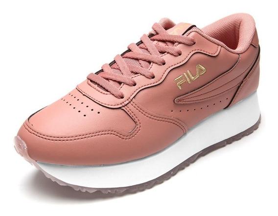 Tênis Fila Euro Jogger Wedge Feminino Flat Forme Rosa Leve