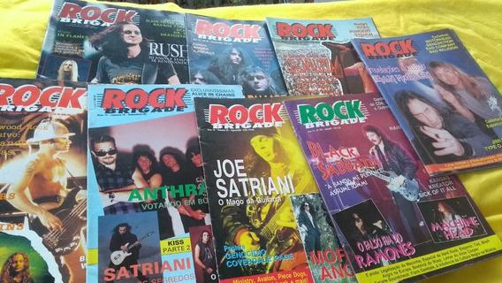 Rock Brigade Lote Com 8 Revistas Sendo 3 Com Os Posteres