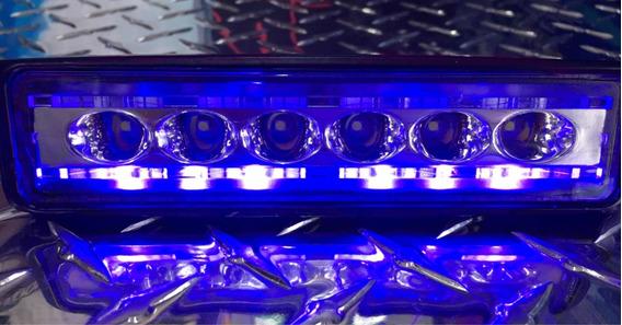 Barra De 6 Led Con Códigos Azules Y Rojos 18w Slim