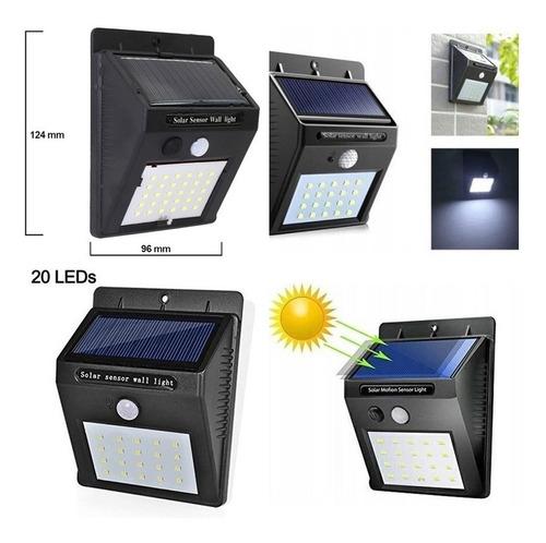 4 Faroles  Solares  Con Fotocelula Y Sensor Movimiento