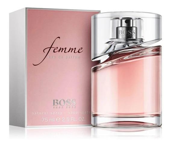 Perfume Hugo Boss Femme Edp 75ml Original Lacrado + Amostra.
