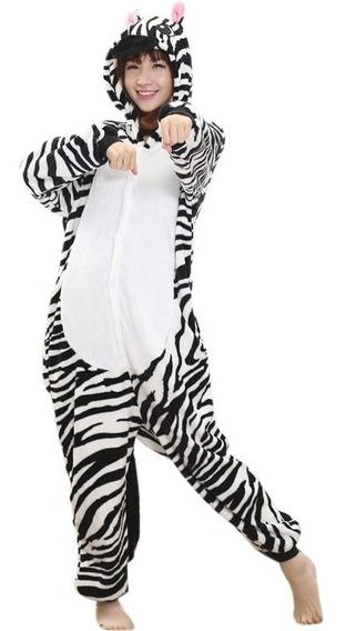 Cosplay Pijama Disfraz Enteriza Térm Cebra.entrega Inmediata