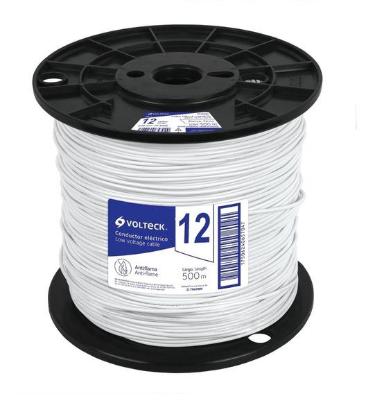 Cable Thhw-ls 12 Awg Blanco Bobina 500m Cab-12b-500 40113