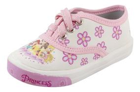 Tenis Infantil Feminino Branco Com Estampa Rosa