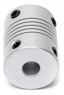 Acople De Eje Elastico Flexible 5mm A 8mm Motor Impresora 3d