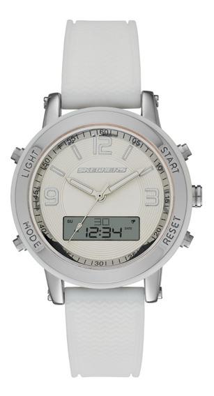 Reloj Dama Skechers Lynngrove Sr6004 Color Blanco