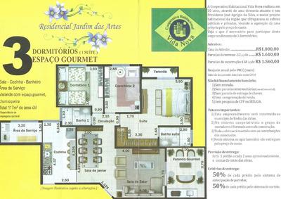Cota De Apartamento 3 Dorms 117m² Cooperativa Vida Nova Embu