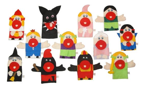 Fantoches De Mão Em Feltro Personagens Infantis
