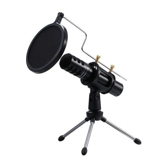 Microfone Profissional Usb Plugue & Jogar Pc Condensador