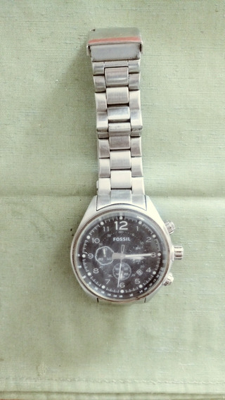 Relógio Masculino Fóssil Ch 2800 Metal Prata Pretooriginal