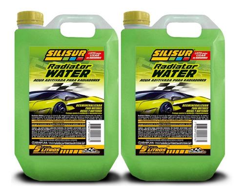 Liquido Refrigerante Radiator Water Silisur 5lt Pack 2un