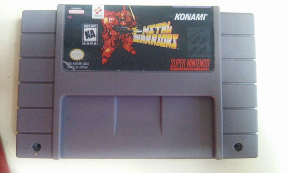 Fita Metal Warriors Jogo Snes Cartucho Super Nintendo