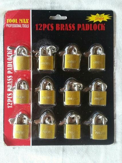 Cadeados 25mm 10 Cartelas Com 12 Unidades Promoção Especial