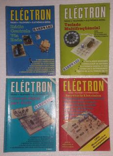 4 Revistas De Eletrônica Electron (anos 80/90)