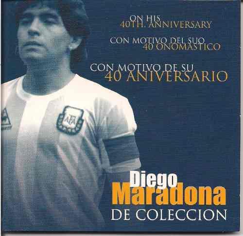 Moneda Medalla Diego Maradona 40 Aniversario En Blister