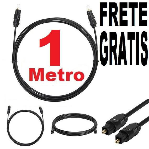 Cabo Áudio Óptico Digital 1 Metro Toslink Otico Home Tv Dvd
