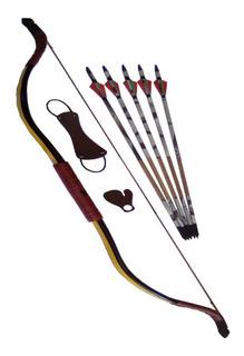 Arco Tradicional De Pvc ,35# + 5 Flechas+alvos + Aljava
