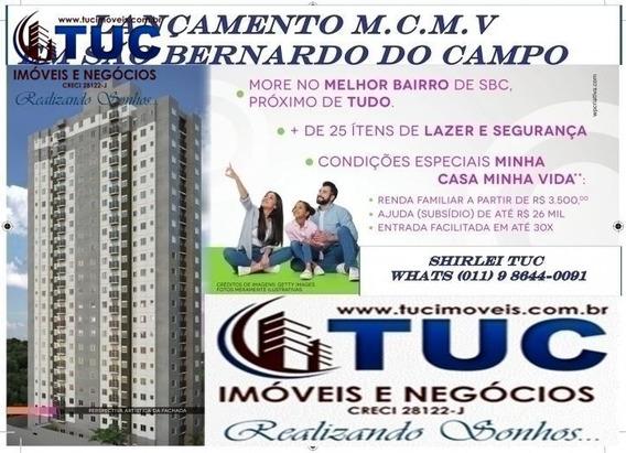 Lançamento M.c.m.v Apto 02 Dorms C/ Sacada -lazer -s.b.c - 8086