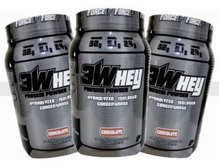 Combo 3 X Whey Protein Isolado 3w 907g Force Up Way Proten