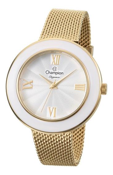 Relógio Feminino Dourado Champion Cn27385h