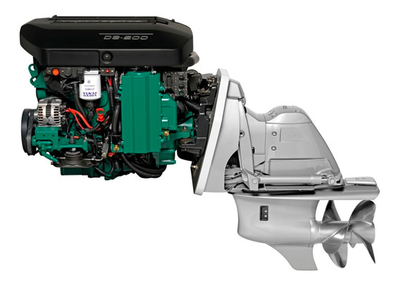 Motor Diesel Lancha Ou Barco Volvo Penta D3 200hp Com Rabeta
