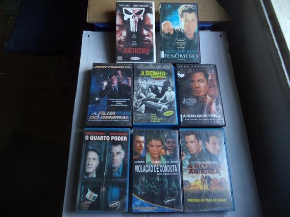Lote Filmes Vhs Seleção John Travolta -com 8 Fitas Cassetes
