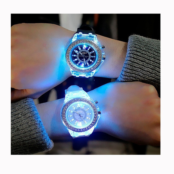 Reloj Luminoso Led Rgb Regalo Luces Geneva Navidad + Envío