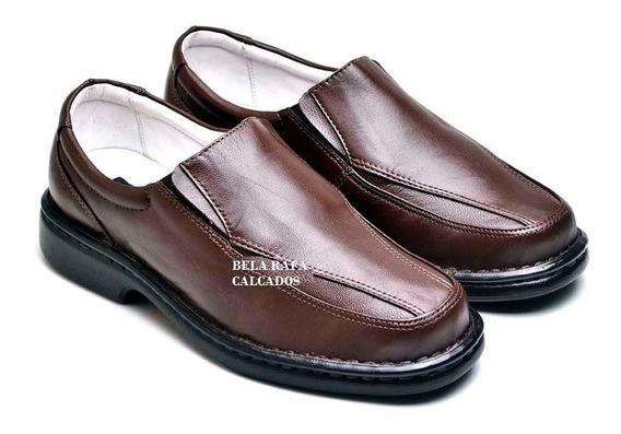 Sapato Com Palmilha Anatomico Em Gel, Social Masculino, Cour