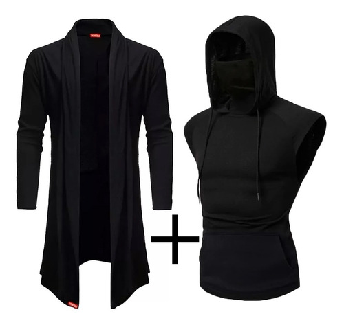Kit Regata Masculina Ninja Com Mascara Embutida + Cardigan