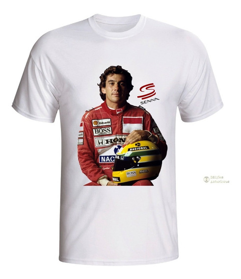 Camisa Camiseta Personalizada Ayrton Senna