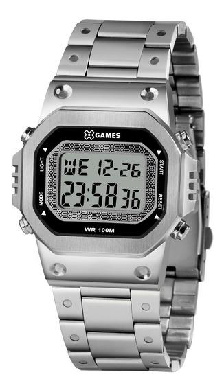 Relógio X-games Masculino Digital Xgssd001 Bxsx Prata Aço