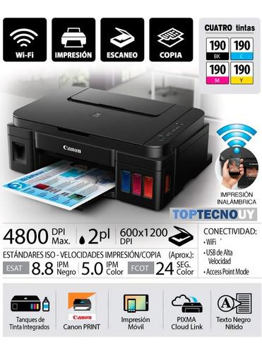 Impresora Multif. Canon G3110 Wifi  Sist.  Cont. Original