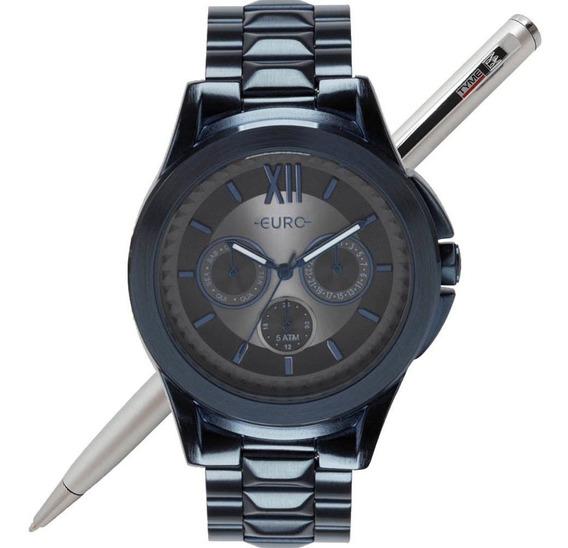 Relógio Euro Feminino Spike Fever Power Azul Eu6p29agy/4c Nf