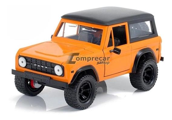 Miniatura Ford Bronco 1973 Laranja Jada Toys 1/24