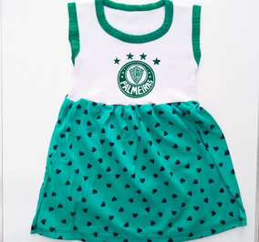 Vestido Bebê Infantil Para Menina Palmeiras Barato